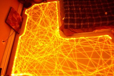 Roomba path long exposure photo
