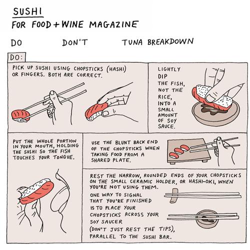 Sushi Etiquette Do's