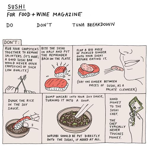 Sushi Etiquette Don'ts