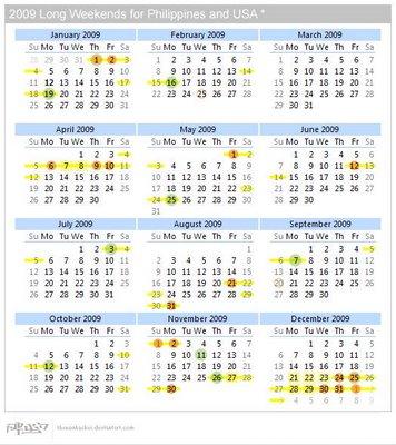 Long Weekends Calendar