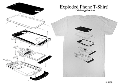 Exploded iPhone T-Shirt