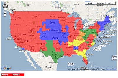 NFL TV Distribution Maps