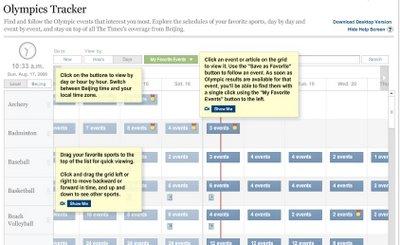 Olympics Schedule Tracker