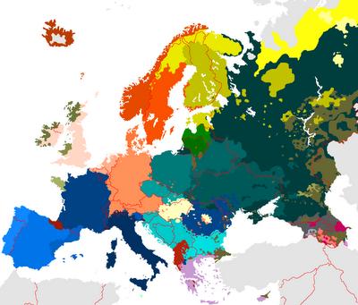 Map of European Languages