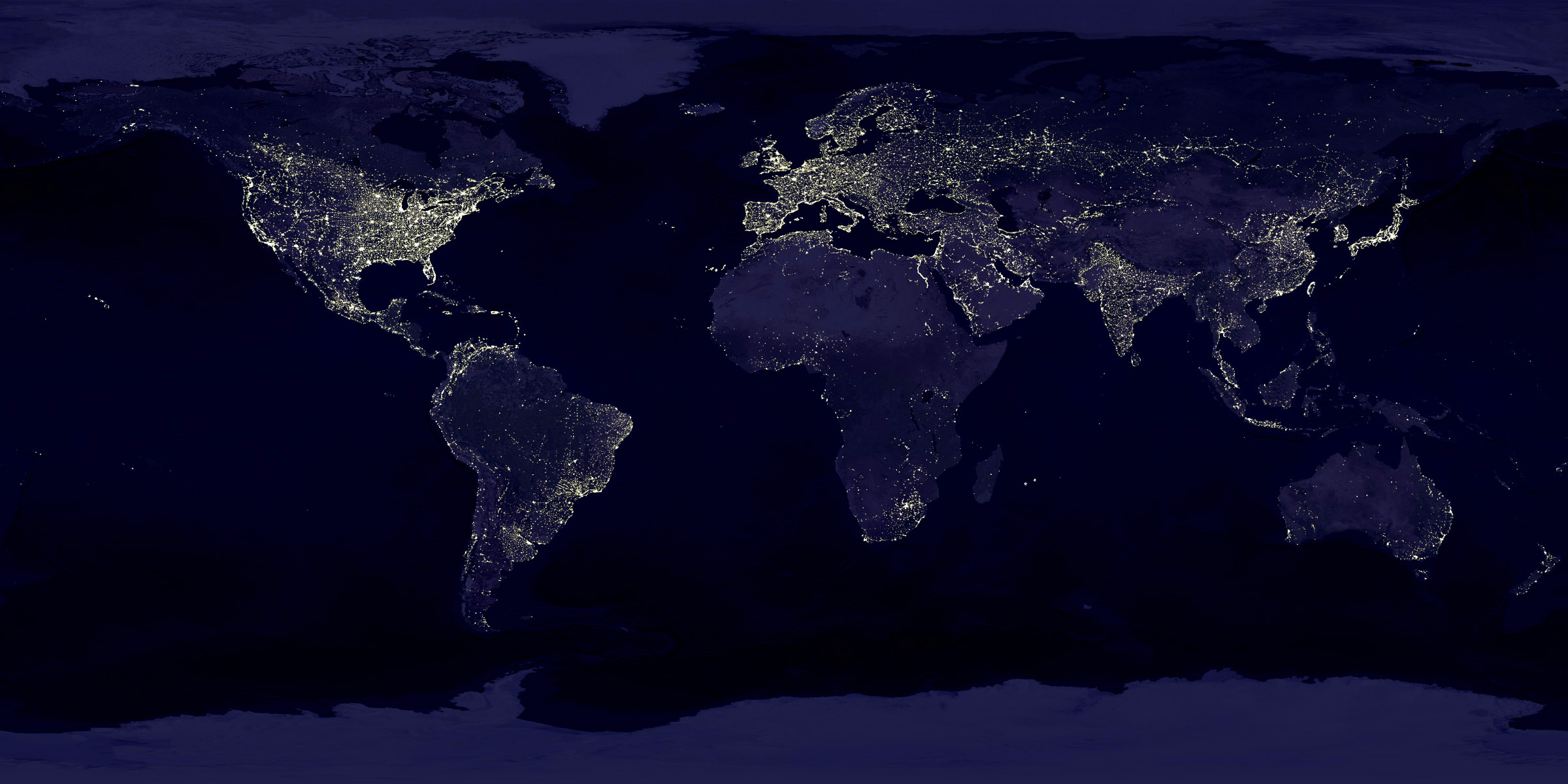 Earth At Night graphic