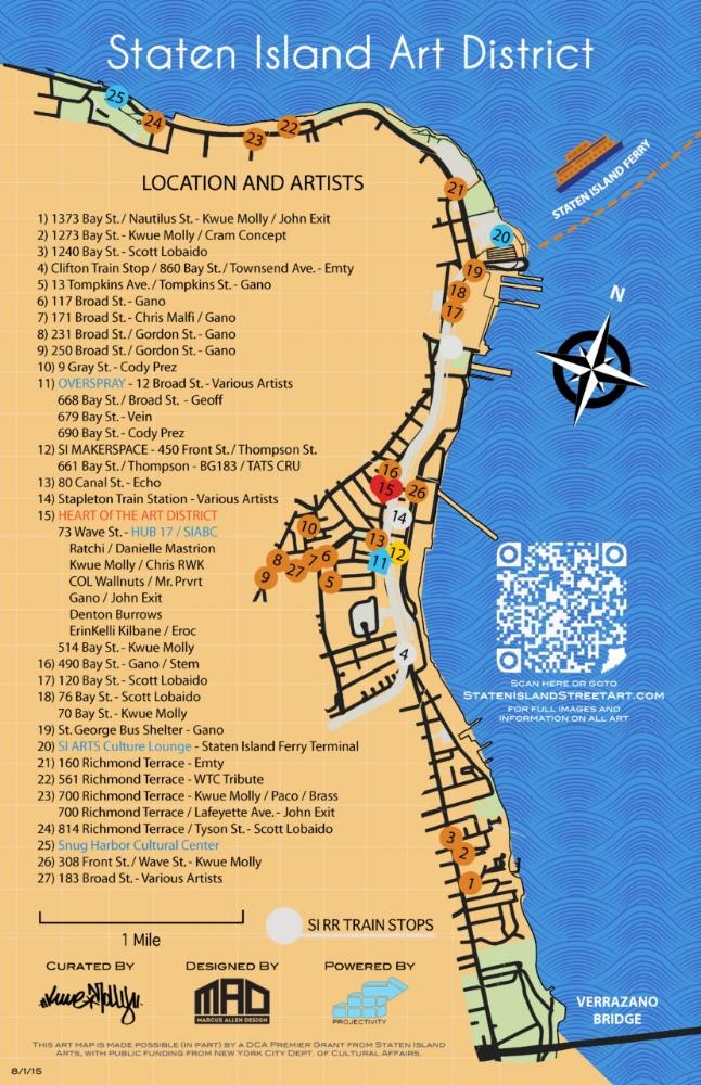 Staten Island Street Art Map — PROJECTIVITY GROUP on map of west brighton staten island, map of fort wadsworth staten island, map of mariners harbor staten island,
