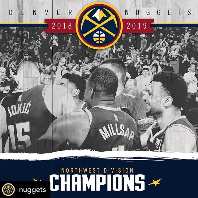 #Repost • @nuggets Northwest Division ✅ • Congrats @paulmillsap4 and the @nuggets on winning the Northwest Division and clinching home court advantage in the first round 👏🙌