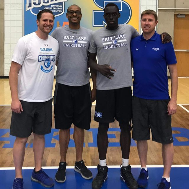 """""""Nothing in life that's worth anything is easy."""" -  @barackobama • Congrats to our Post Grad player, Athian Majok, on signing with Salt Lake Community College. Hard work pays off. We are very proud of you 👏"""