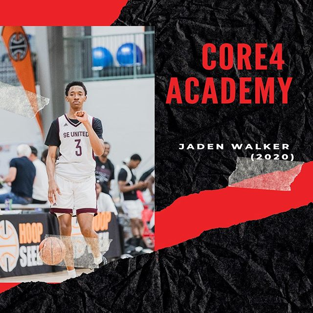 Core4 Academy is looking 🔥 • 2020 3-Star PG Jaden Walker will officially transfer to  Core4 Academy for his senior year. Joining Quincy Canty, Kedrick Green, and a host of others. Jaden Walker has offers from Iowa state, Georgia Tech, Ole Miss,  Wake Forest about 7 other schools. • This season is going to be one for the books💪