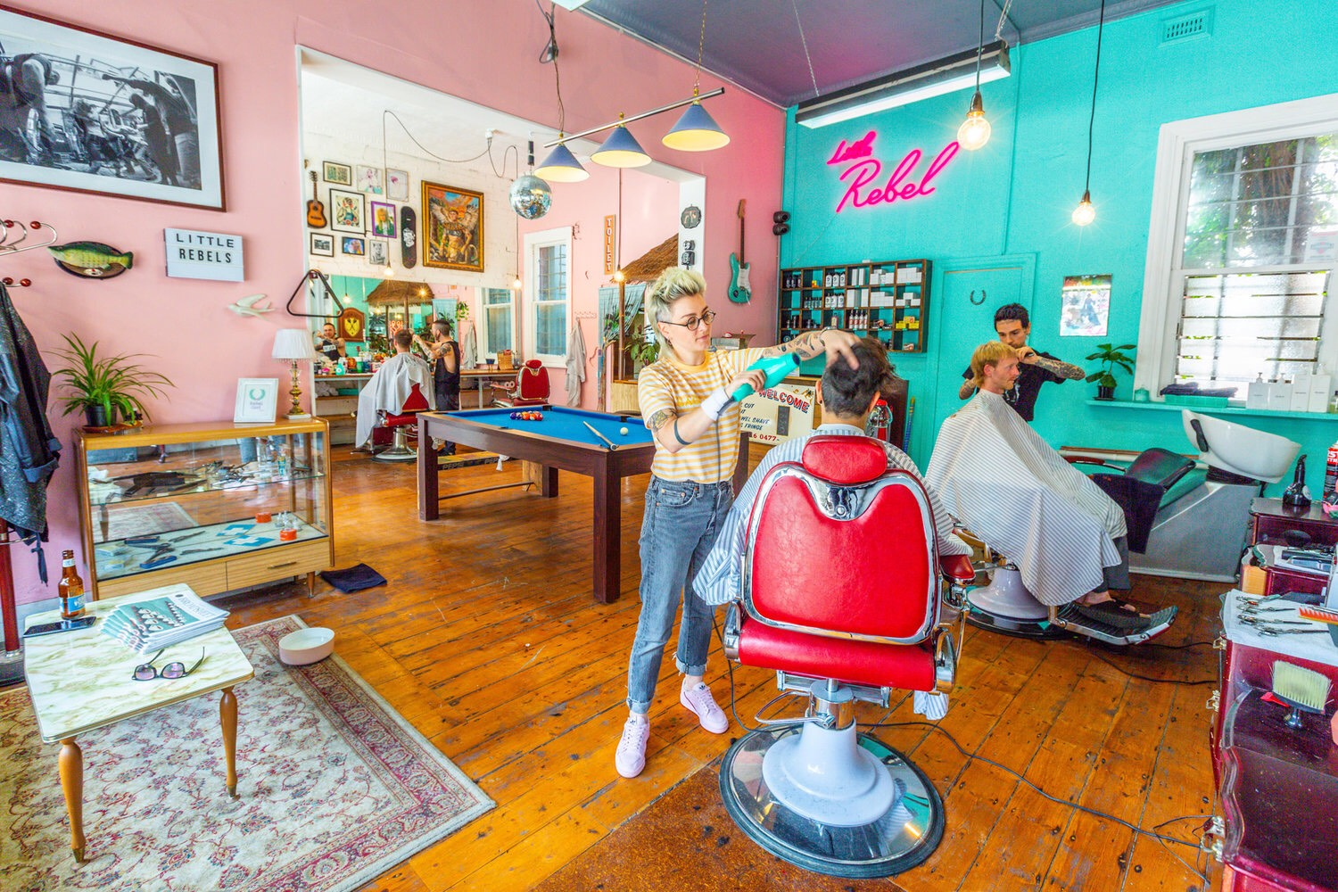 Little Rebel Barbershop - Offering a wide range of services using hairdresser and barbering techniques and charging on service not gender.Inspired by musical subcultures and driven by equality!Get there and get your hair did.
