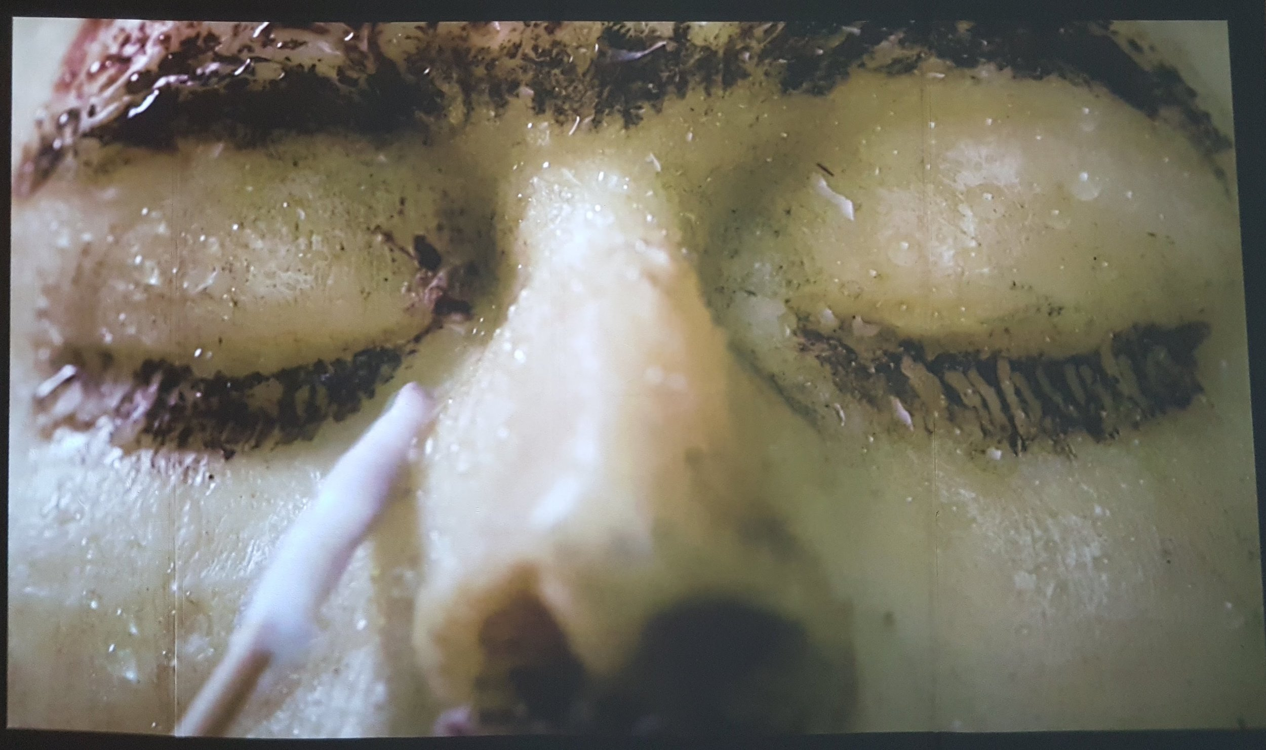 Carlos Motta,  Lagrimas, 2017,  16:9 HD, video, color, sound, 14:41m,  Exquisite Corpse: Moving Image in Latin American and Asian Art.  Mana Wynwood. Photo courtesy of the writer.