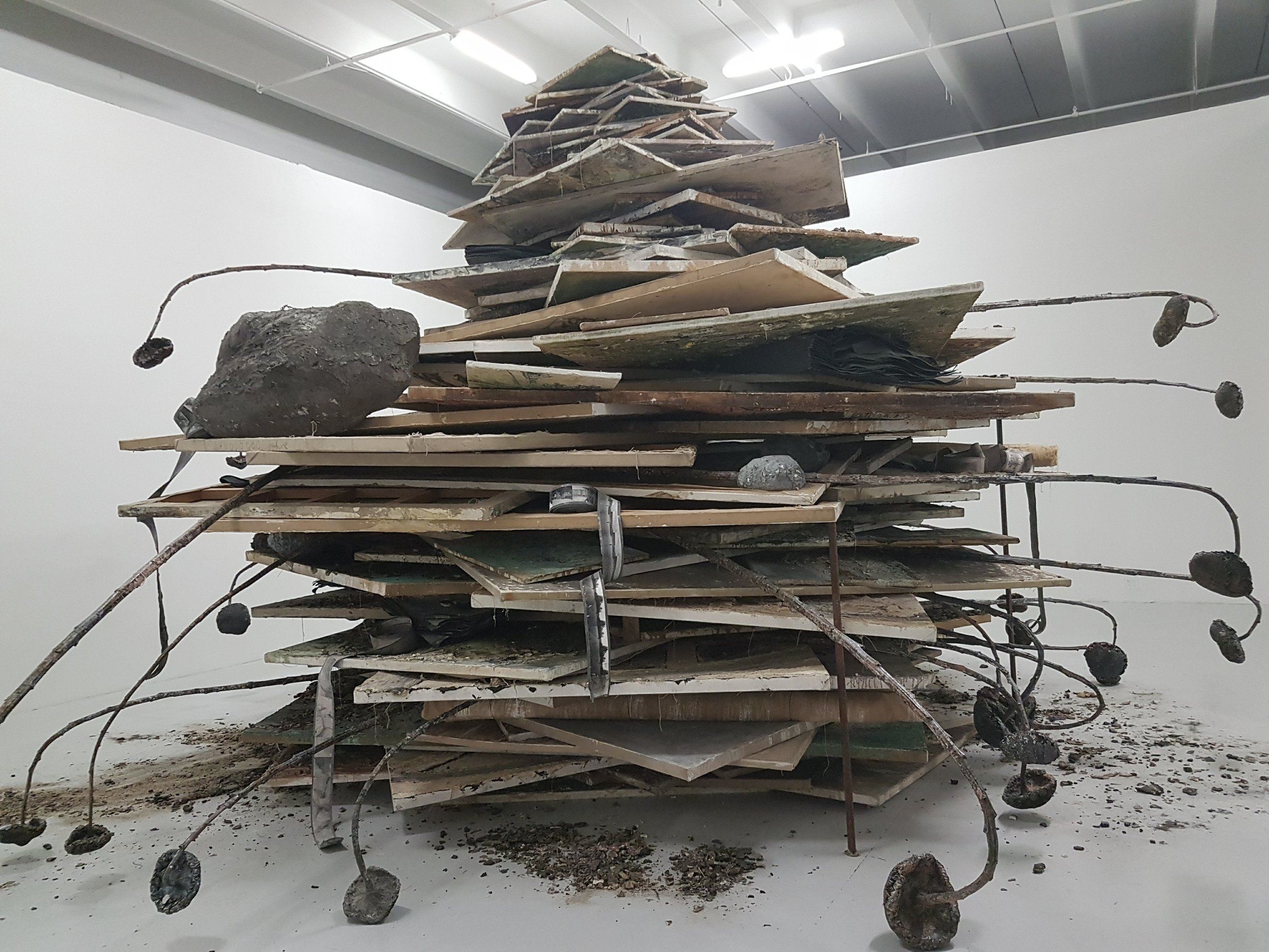 Partial installation view of Anselm Kiefer's  Age of the World(2014),  Margulies Collection at the Warehouse. Photo courtesy of the writer.