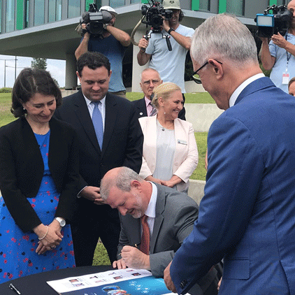 The signing of the Western Sydney City Deal