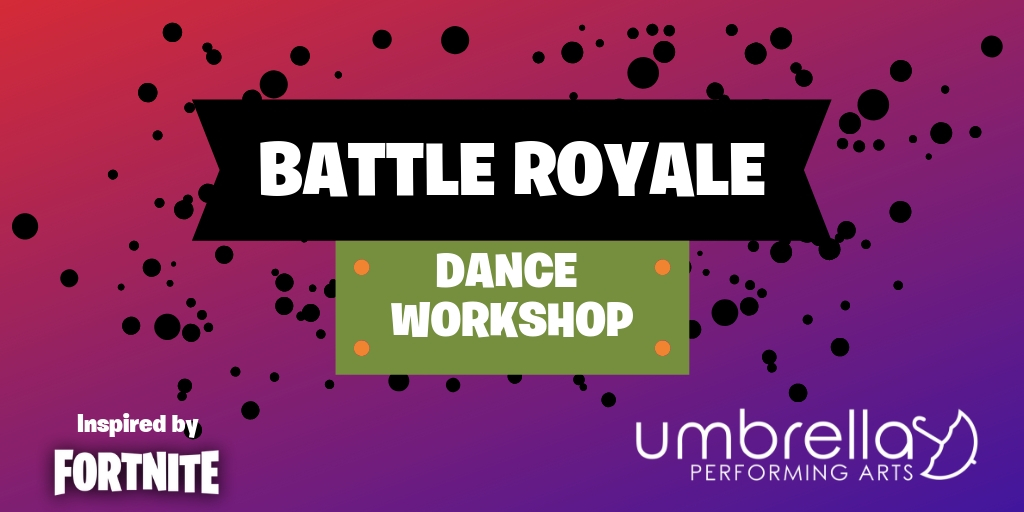 Fortnite Dance Workshop - Drop In for a dance workshop featuring your favorite dance moves inspired by the popular game Fortnite. This fun, upbeat, Hip Hop style workshop will incorporate moves you already know such as Flossing and The Hype and introduce you to some of the more difficult moves as well!Length: 2 hoursTarget age: 7 – 16Max. class size: Varies based on age range and venue