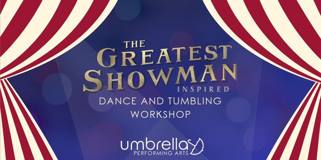 The Greatest Showman - Join the greatest show on earth with this circus themed acrobatics and musical theater workshop. Students will learn choreography and acrobatic tricks with music and movement inspired by the movie The Greatest Showman.Length: 1-2 hoursTarget age: 10-18, can be modified for adultsMax. class size: 12 with acrobatic portion, without acrobatics max class size varies