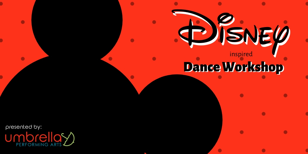 Disney Dance workshop - Learn dance moves and play rhythm movement games inspired by your favorite Disney movies. In this workshop, we will use music from Aladdin, Lion King, Moana, and more.Length: 1 hourTarget age: 5-10Max. class size: Varies based on age range and venue