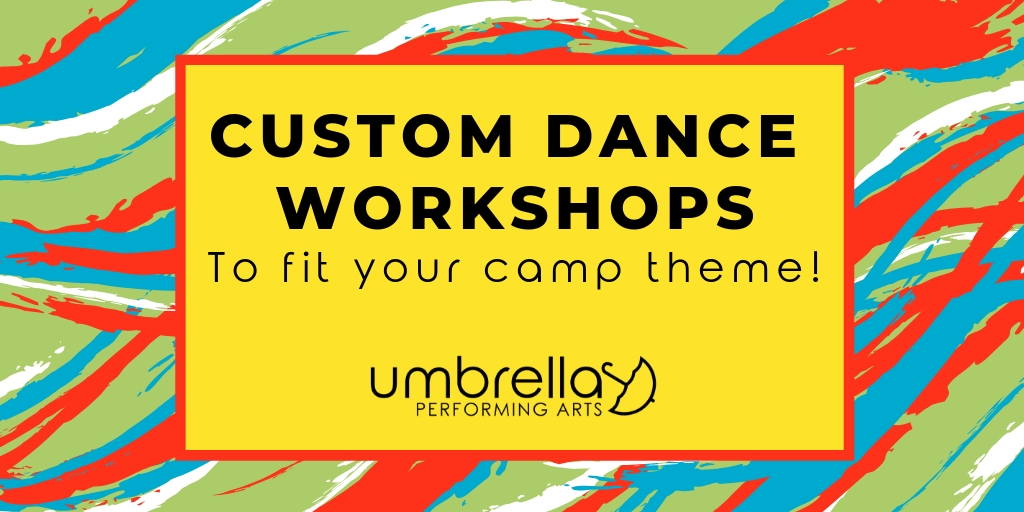 Custom Dance Workshops - Let's talk about creating a workshop just for your group! Whether it be for your school, summer camp, scouting troop, Birthday party, dance team, etc. I can work with you to create a custom dance workshop to fit your theme, age group, dance level, and group size.Workshops for experienced dancers are offered in the following styles: Contemporary, Jazz, Tap, Stretch & Strength, Musical Theater, and Improvisation