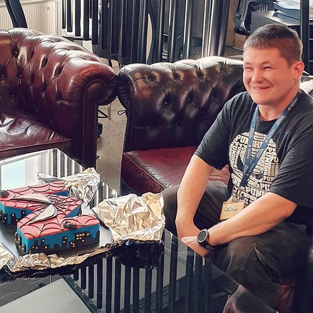 Happiest of birthdays to our amazing office manager Marty #martyparty Thank you @tbwasydney for making his amazing #spidermancake. . . . #birthday #agency #cake #spiderman