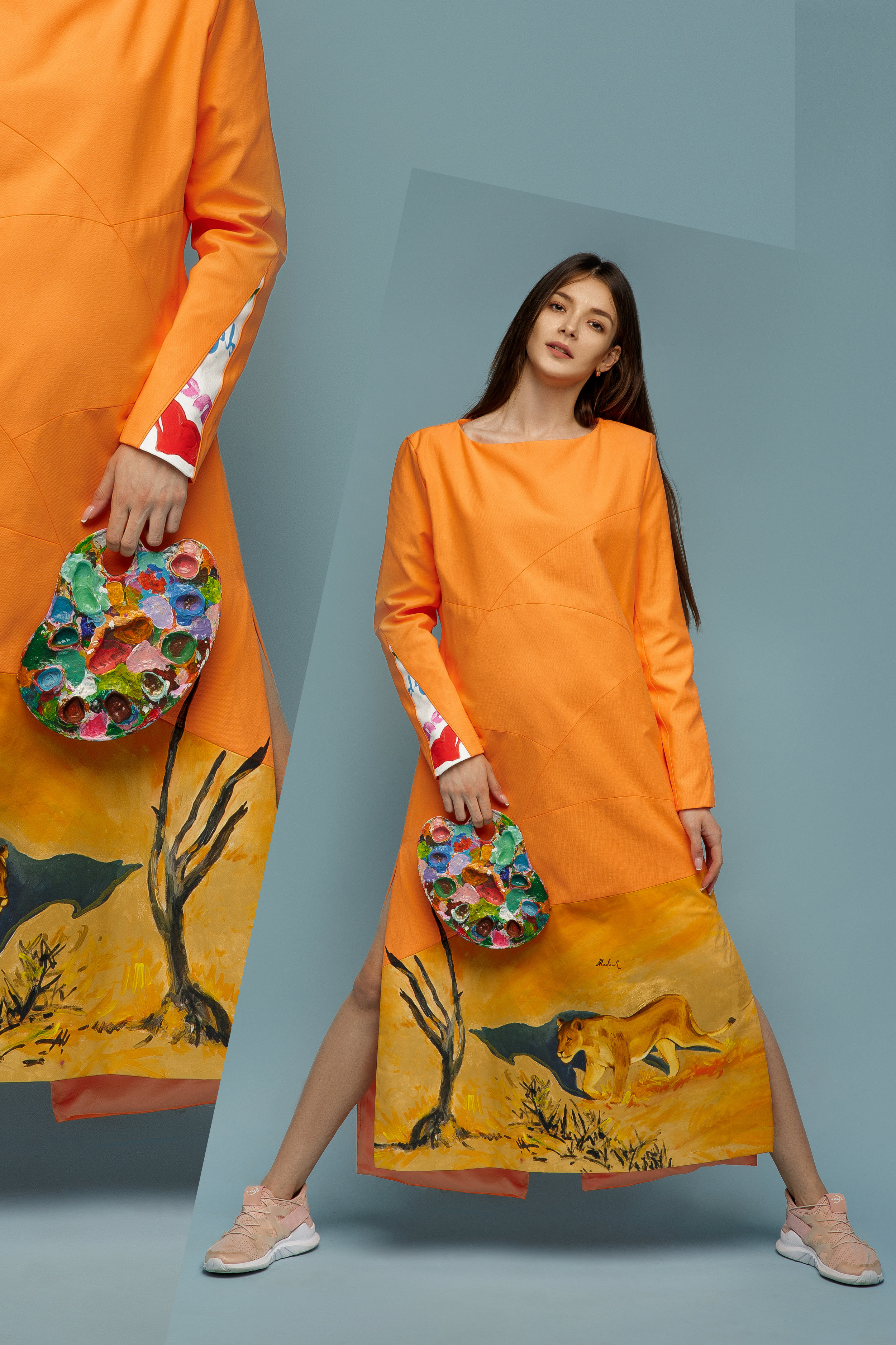 Young Lioness, Love Irina's hand painted collection that came in third at San Diego Fashion Week. -