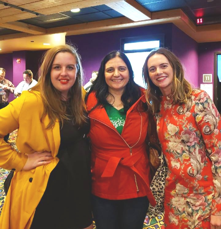 Hot Mess  cre w:  actress Sarah Gaul (on the left) & director Lucy Coleman (on the right) at SIFF 2018.
