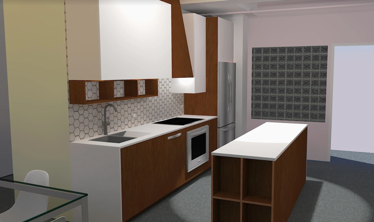 3D Rendering of Future kitchen