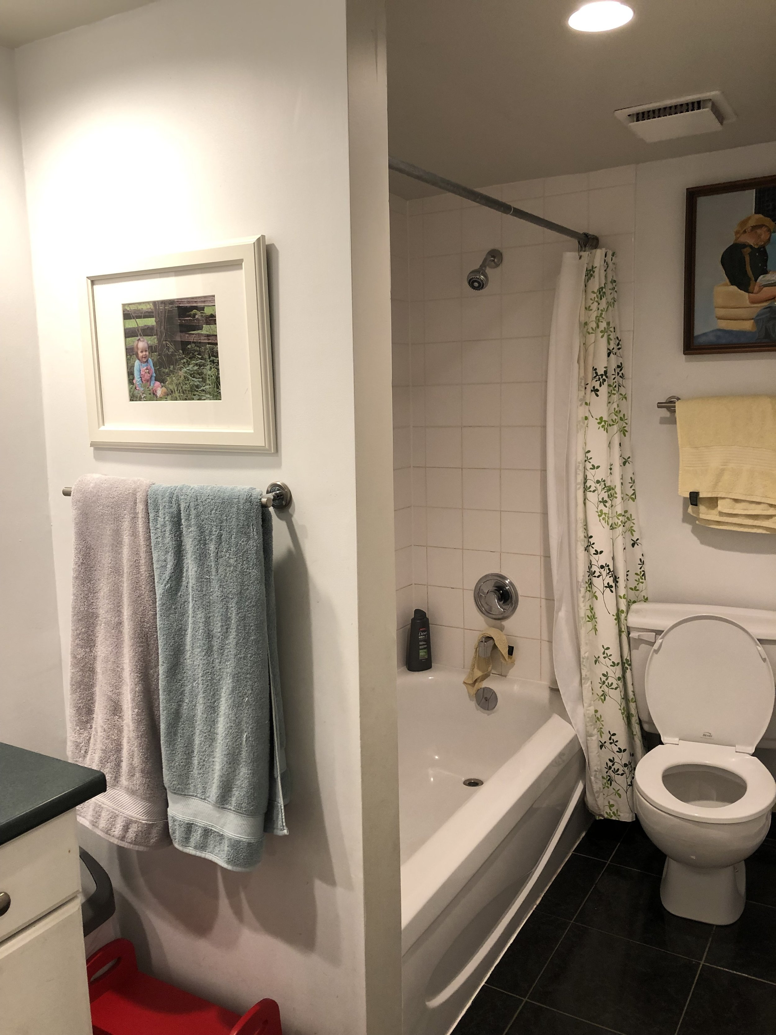 Before this bathroom was feeling dated and small and not somewhere anyone would want to go to relax