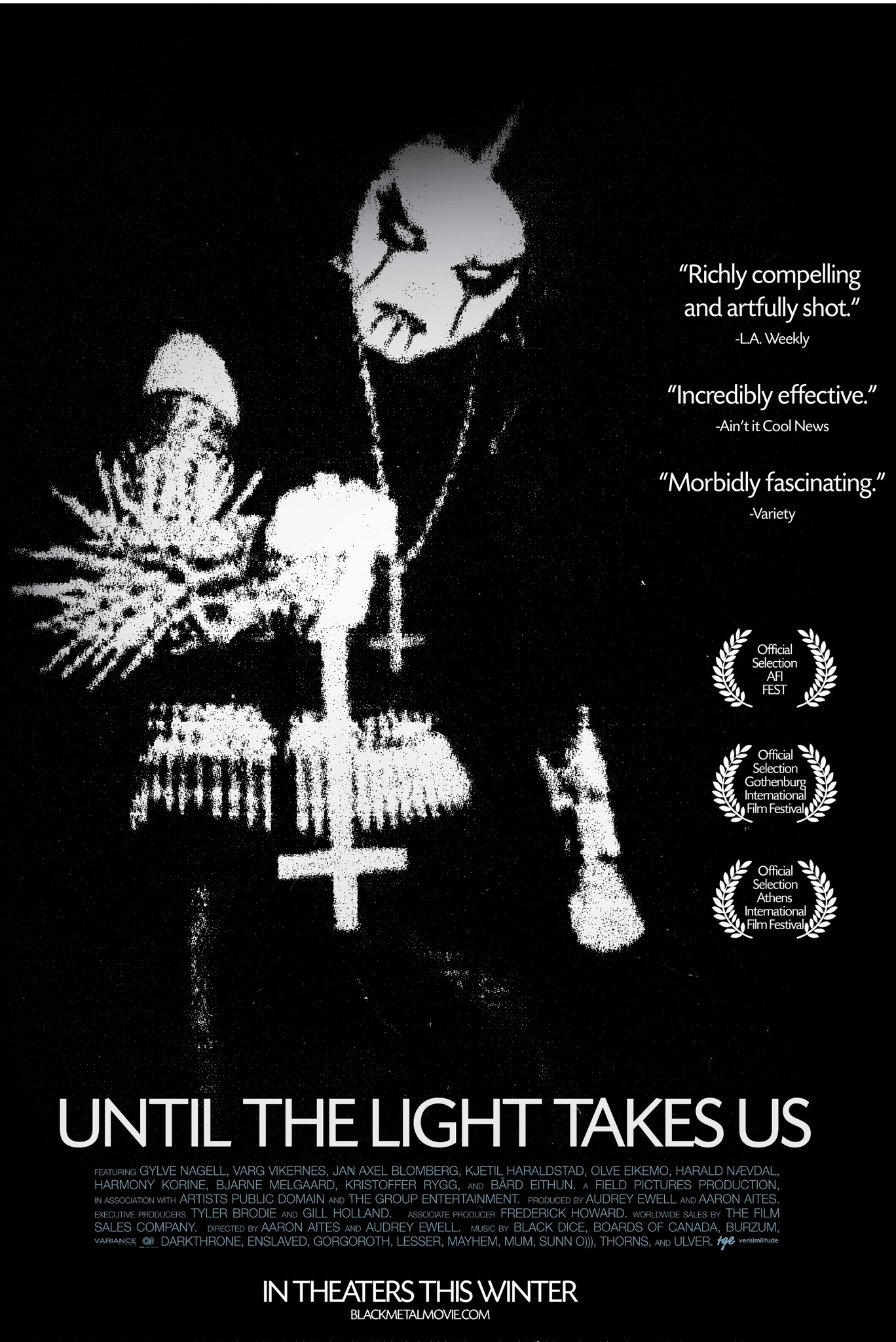 "- In the documentary Until the Light Takes Us, the real Varg goes into great detail to justify his ""moralistic"" retaliation (a firefighter perished as he tried to put out one of the church fires). His calm demeanor, well-read intellect, and soothing voice make him very compelling at times. But then you remember he is a piece of shit Neo-Nazi sitting in prison for stabbing his friend to death…"