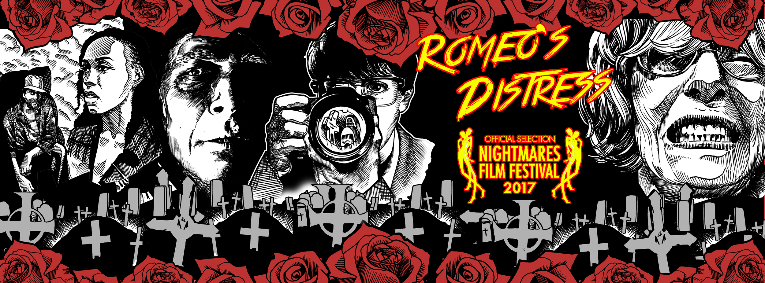 """Romeo's Distress,"" named after the    Christian Death    song by    Rozz Williams    and    Rikk Agnew    is a weird, gothic noir horror-thriller that tells a story of a boy name James, his unrequited love for a girl named Jane, and her father's sadistic (yet dutiful) response to it all."