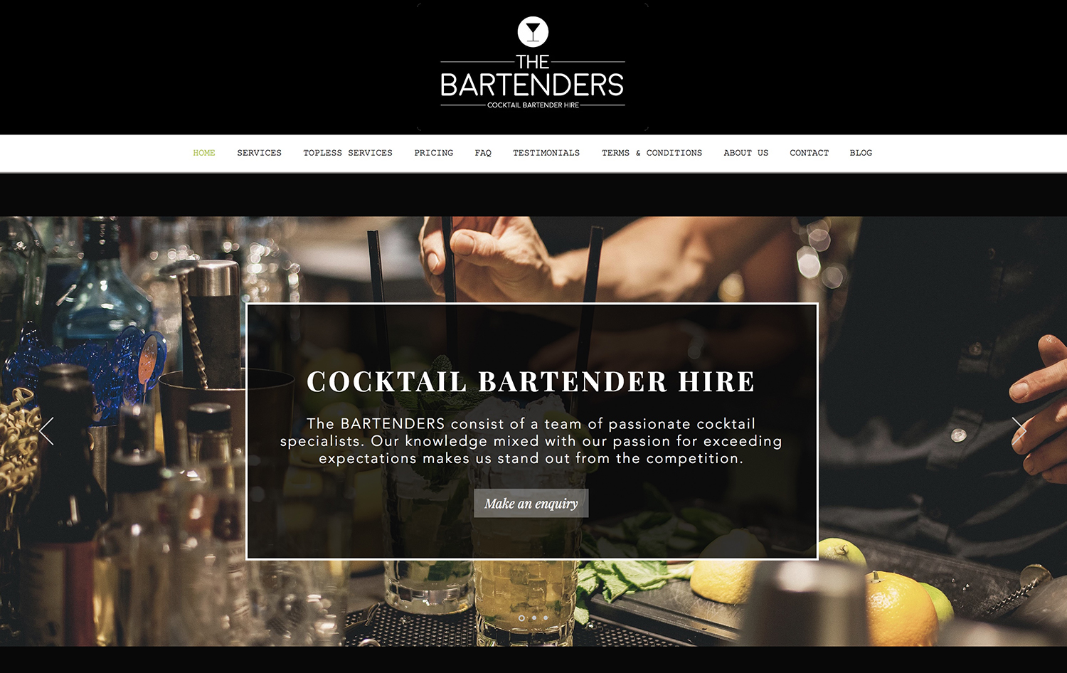 The Bartenders - PH: 0451 636 144 info@thebartenders.com.au