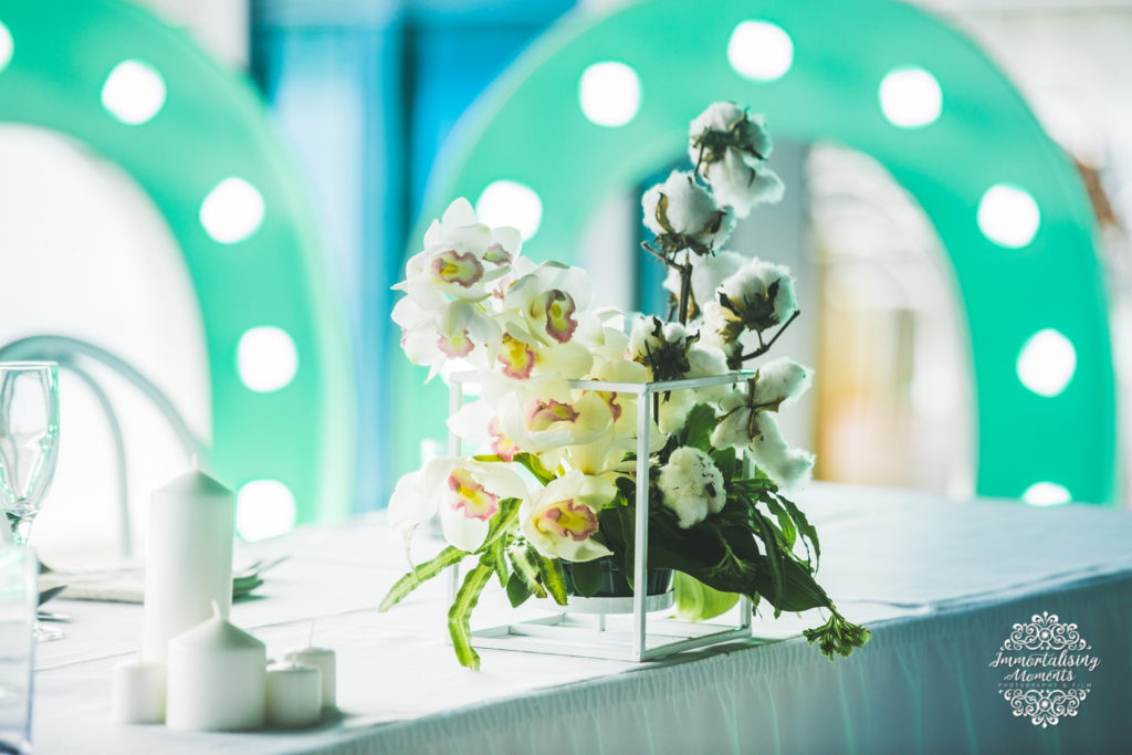 Reception styling and florals by First Class Functions