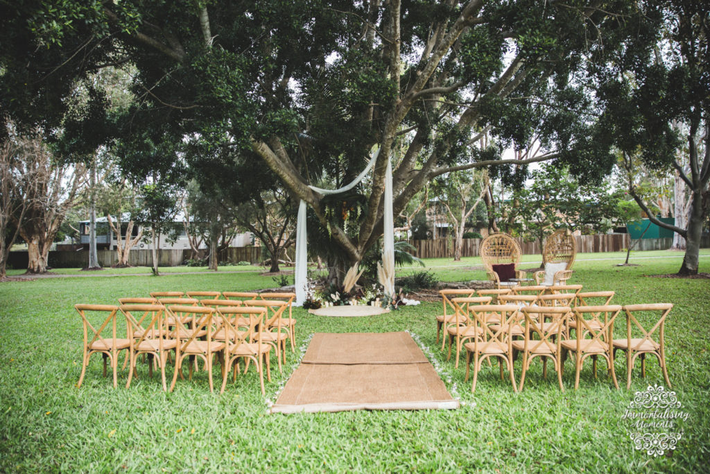 Noosa wedding ceremony set up by First Class Functions