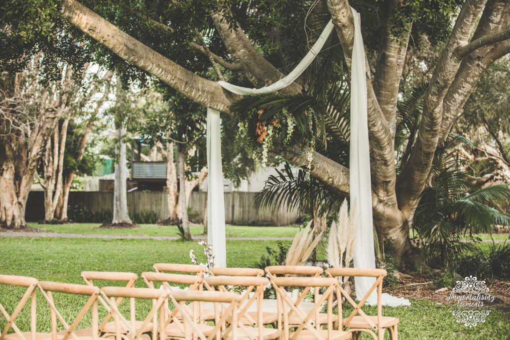 Wedding ceremony set up by First Class Functions