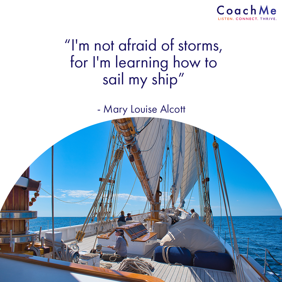 Coaching Images - Sail my Ship - Mary Louise Alcott - CoachMe Vancouver