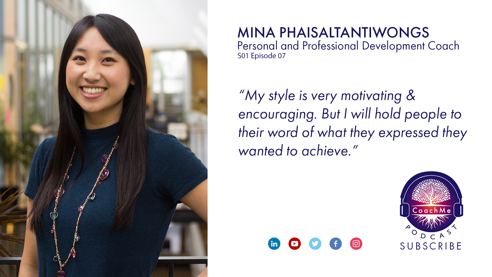 Coach in Vancouver Podcast - Mina Phaisaltantiwongs - CoachMe Vancouver