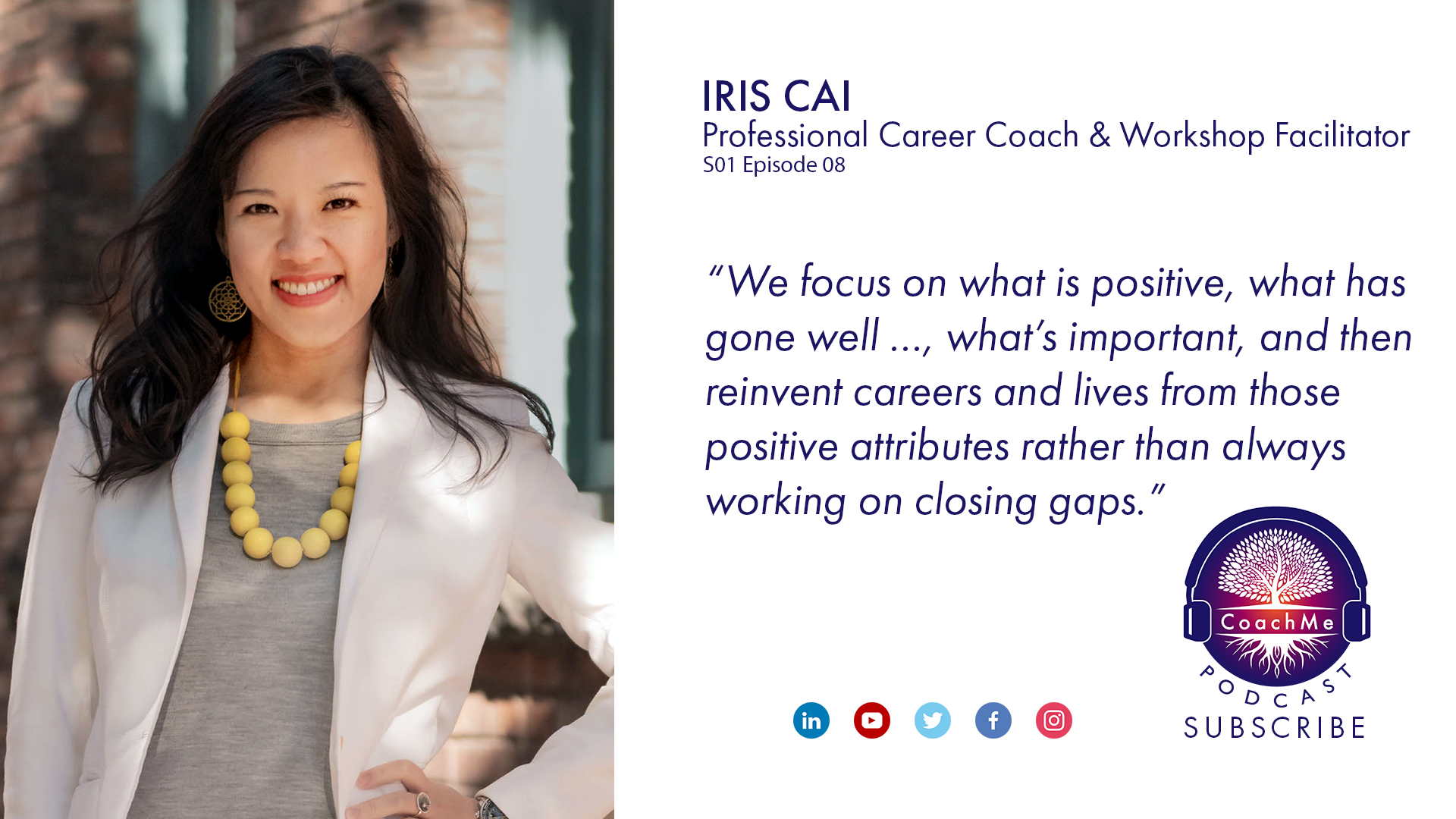 Coach in Vancouver Podcast - Iris Cai - CoachMe Vancouver