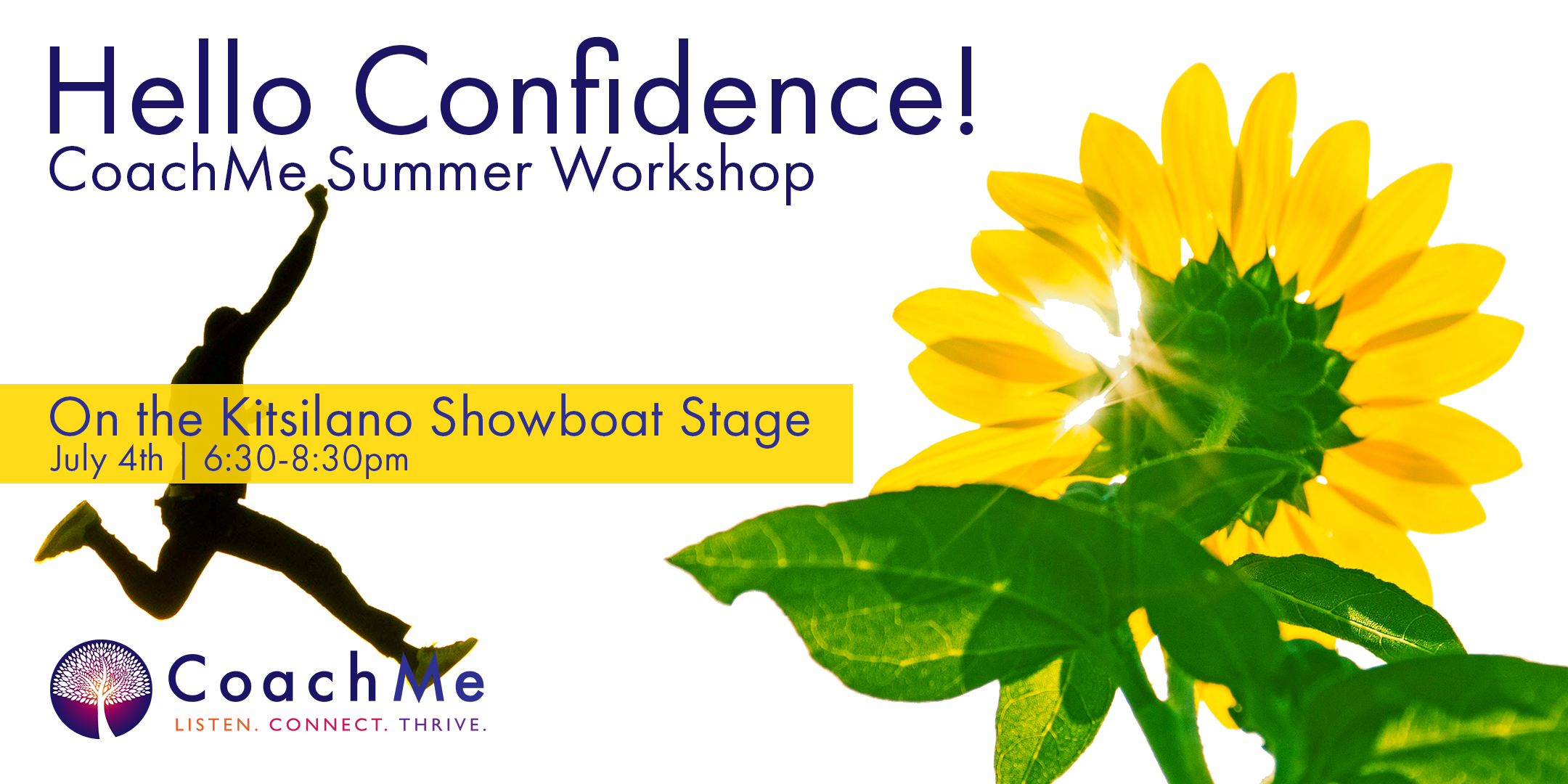Coaching Workshop in Vancouver - Coaching Event Hello Confidence - CoachMe Vancouver