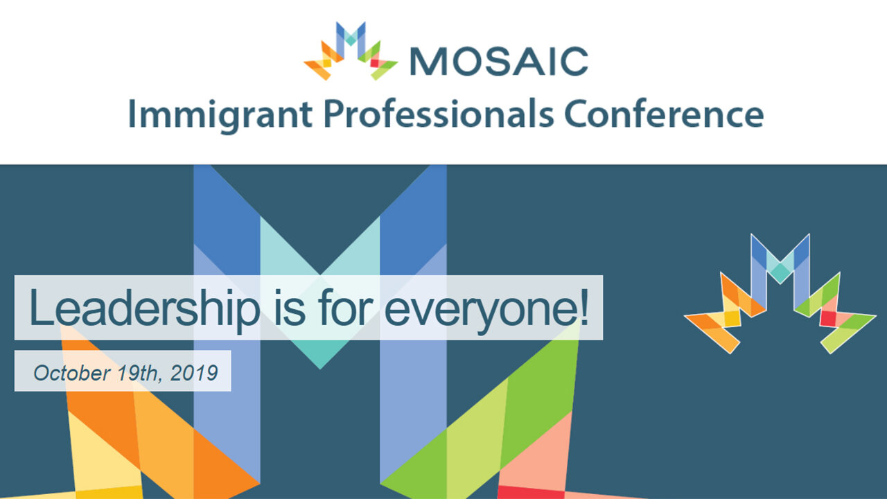 MOSAIC 2019 Immigrant Professionals Conference - Leaders - Unleash Your Amazingness - Nadine Stille - CoachMe Vancouver Founder