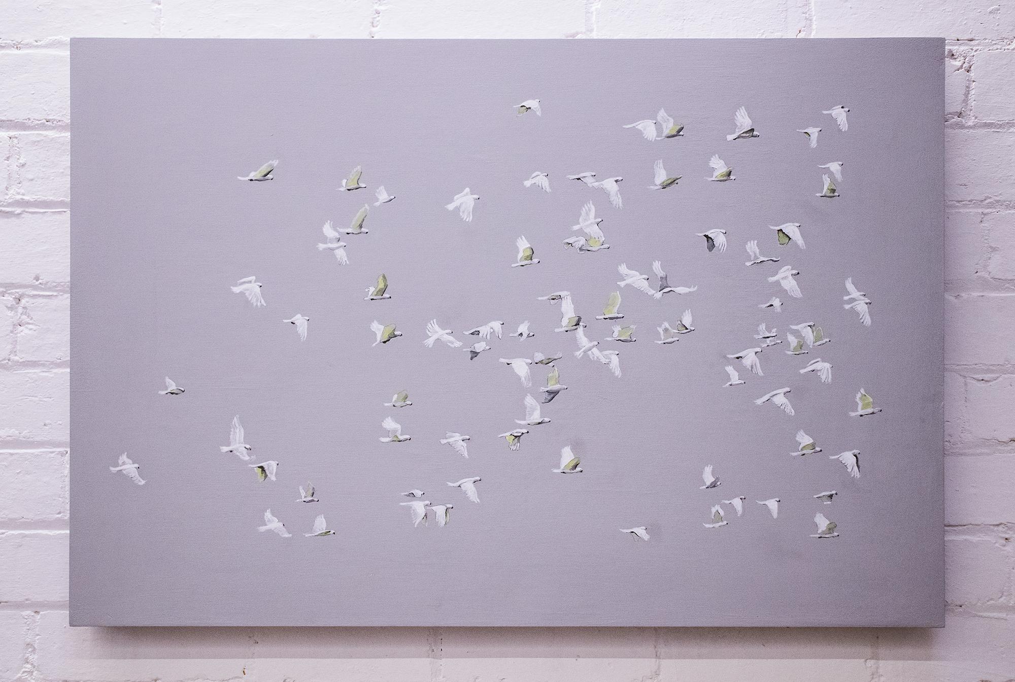 Flight V: Cluster of Sulphur Crested Cockatoos