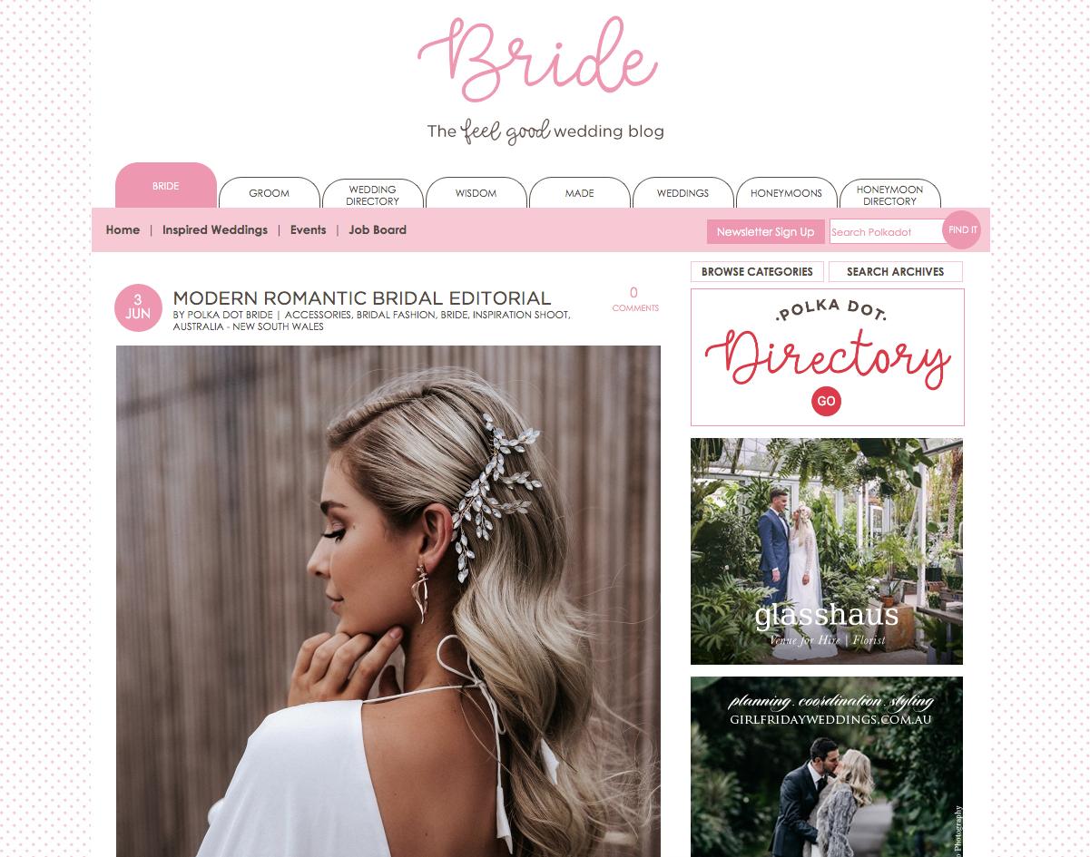 MODERN ROMANTIC BRIDAL EDITORIAL - Polka Dot Bride - 3rd June 2019