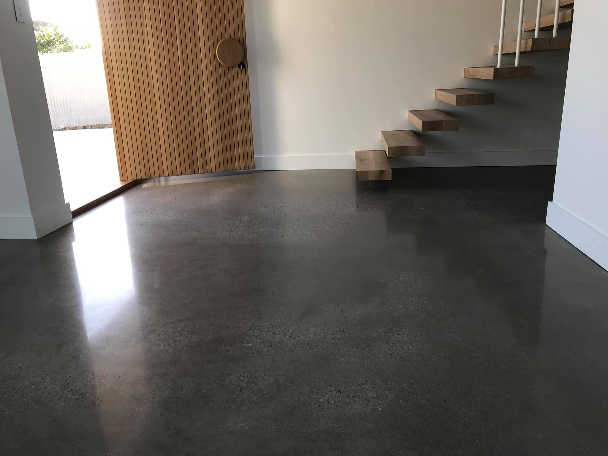 Transform your ordinary concrete slab into a   beautiful, stylish and lasting floor.    View Our Work