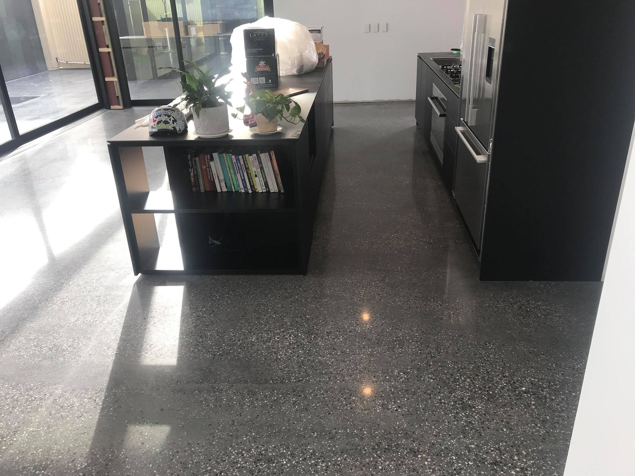 Salt & Pepper - A Salt & Pepper floor can come in a variety of ways:Bare minimal exposure - Just a bit of aggregate shows.Medium exposure - Not to heavy but not too lightHeavy Salt & Pepper - this is close to a full exposed floor but with a few variations.