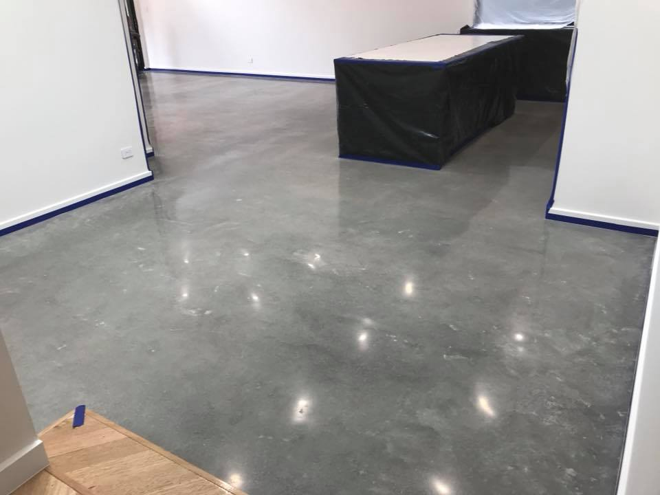 Warehouse polished concrete in kitchen