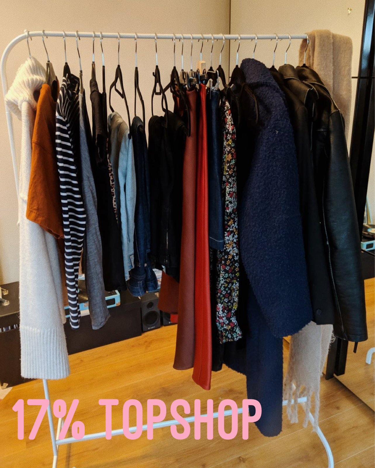 Rust t-shirt * (gifted),  Light Wash Kick Flare Jeans *,  Black Straight Leg Jeans *,  Black Kick Flare Jeans* ,  Navy Coat*  (I used my gifted Topshop voucher to pay for some of this coat, the rest I paid for with my own money)