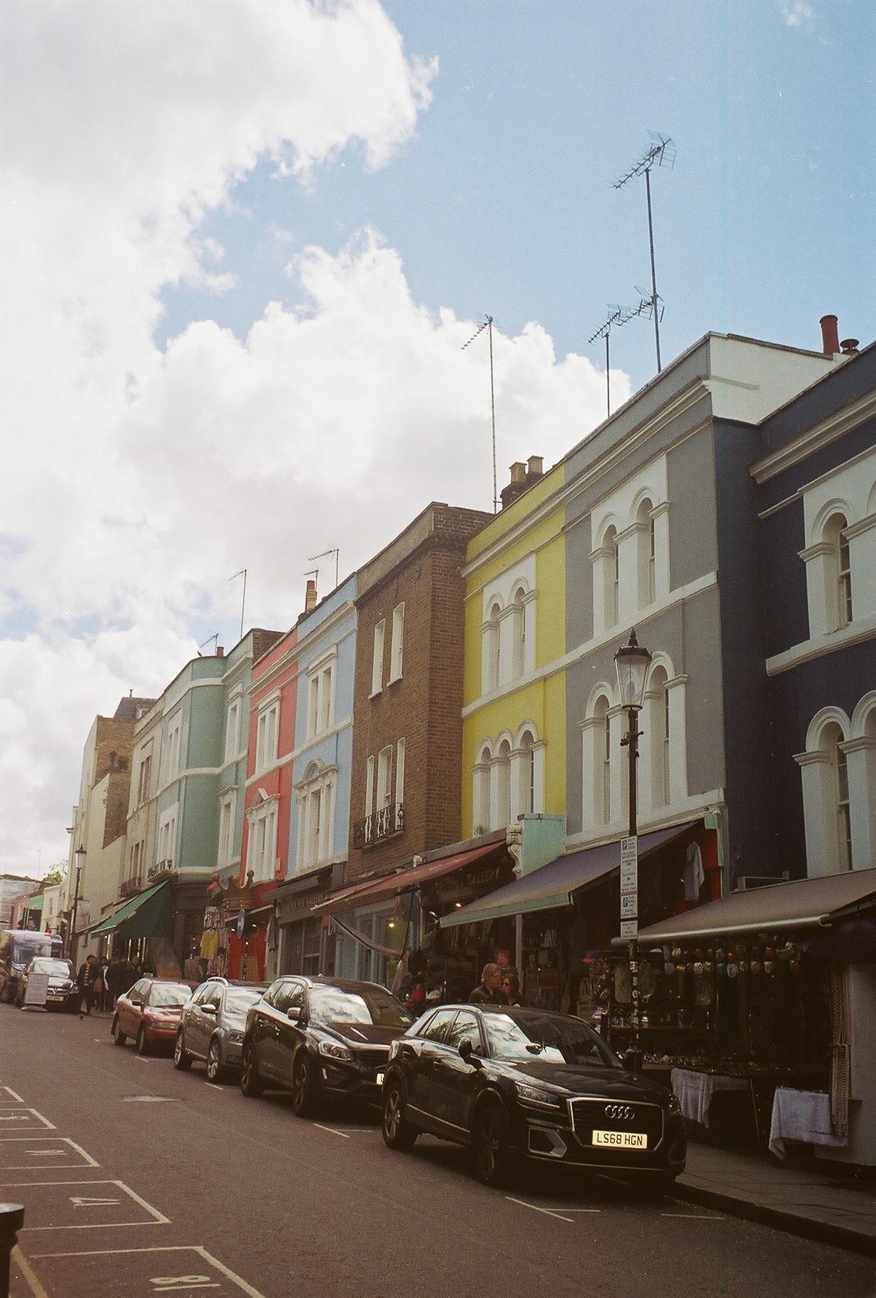 Notting Hill portobello road pastel houses