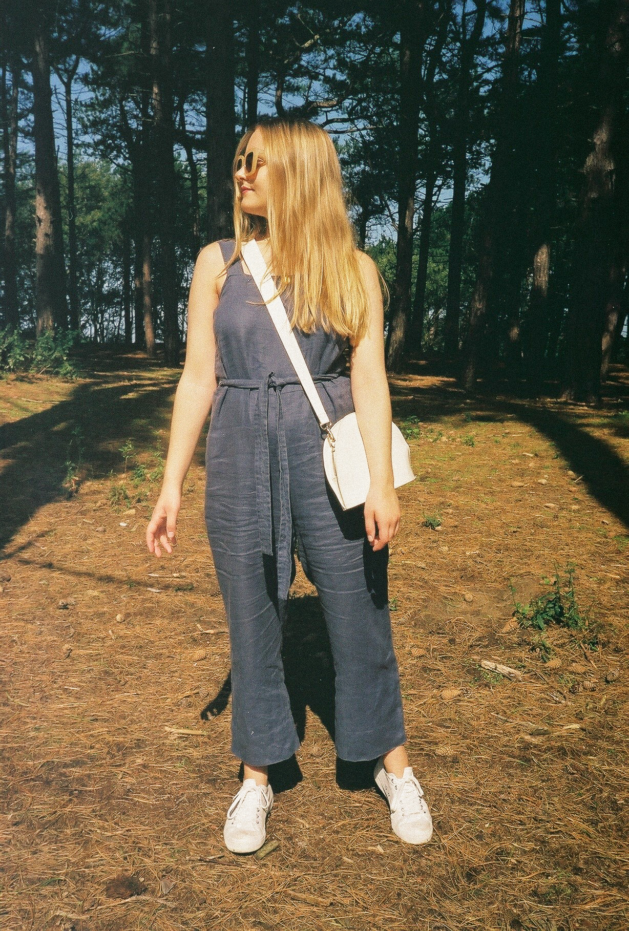 Jumpsuit -  Everlane   Shoes -  Muji   Bag - ASOS (sold out but available in black  here  and in brown  here )