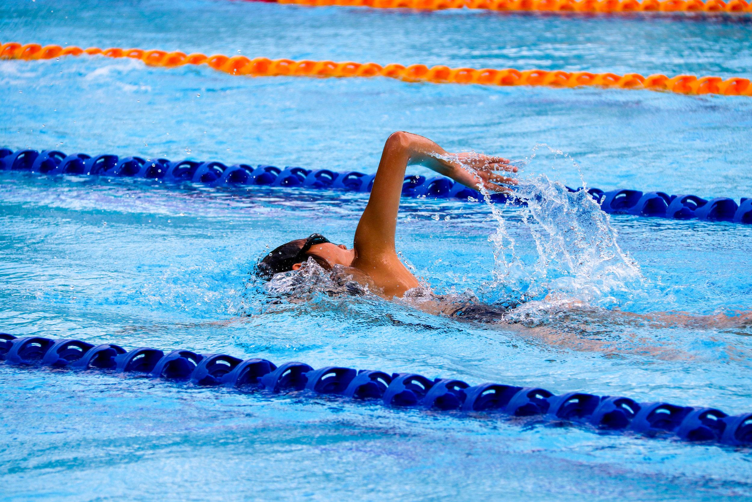 Swimming (crawl) = Vigorous Intensity