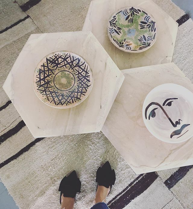 Preparering Casa Rosa pieces for vintage fair in Parque De Bomberos Son Castelló this weekend! Come by If you are in Mallorca!  #dustydecopalma  #ceramics  #vintagefurniture