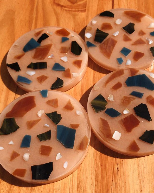 Earth tone coasters available next week, along with some other goodies!