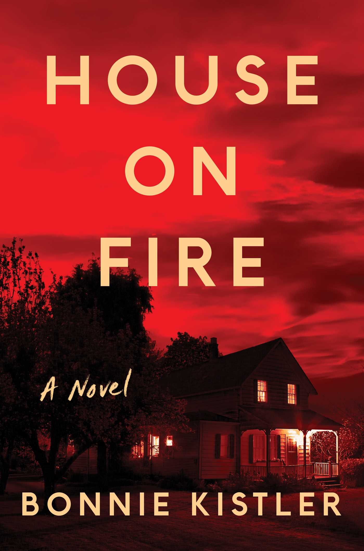 house on fire by bonnie kistler - Divorce lawyer Leigh Huyett knows all too well that most second marriages are doomed to fail. But five years in, she and Pete Conley have a perfectly blended family of her children and his. To celebrate their anniversary, they grab some precious moments of alone time and leave Pete's son Kip, a high school senior, in charge of Leigh's fourteen-year-old daughter Chrissy at their home.Driving back on a rainy Friday night, their cell phones start ringing. After a raucous party celebrating his college acceptance to Duke and his upcoming birthday, Kip was arrested for drunk driving after his truck crashed into a tree. And he wasn't alone—Chrissy was with him.Twelve hours later, Chrissy is dead and Kip is charged with manslaughter.Kip has always been a notorious troublemaker, but he's also a star student with a dazzling future ahead of him. At first, Leigh does her best to rally behind Pete and help Kip through his ordeal. Until he changes his story, and claims that he wasn't driving after all—Chrissy was, and he swears there is a witness.Leigh is stunned that he would lie about such a thing, while Pete clutches onto the story as the last, best hope to save his son, throwing his energy and money into finding this elusive witness. As they hurtle toward Kip's trial date, husband and wife are torn between loyalty to their children and to each other, while the mystery of what really happened that night intensifies.
