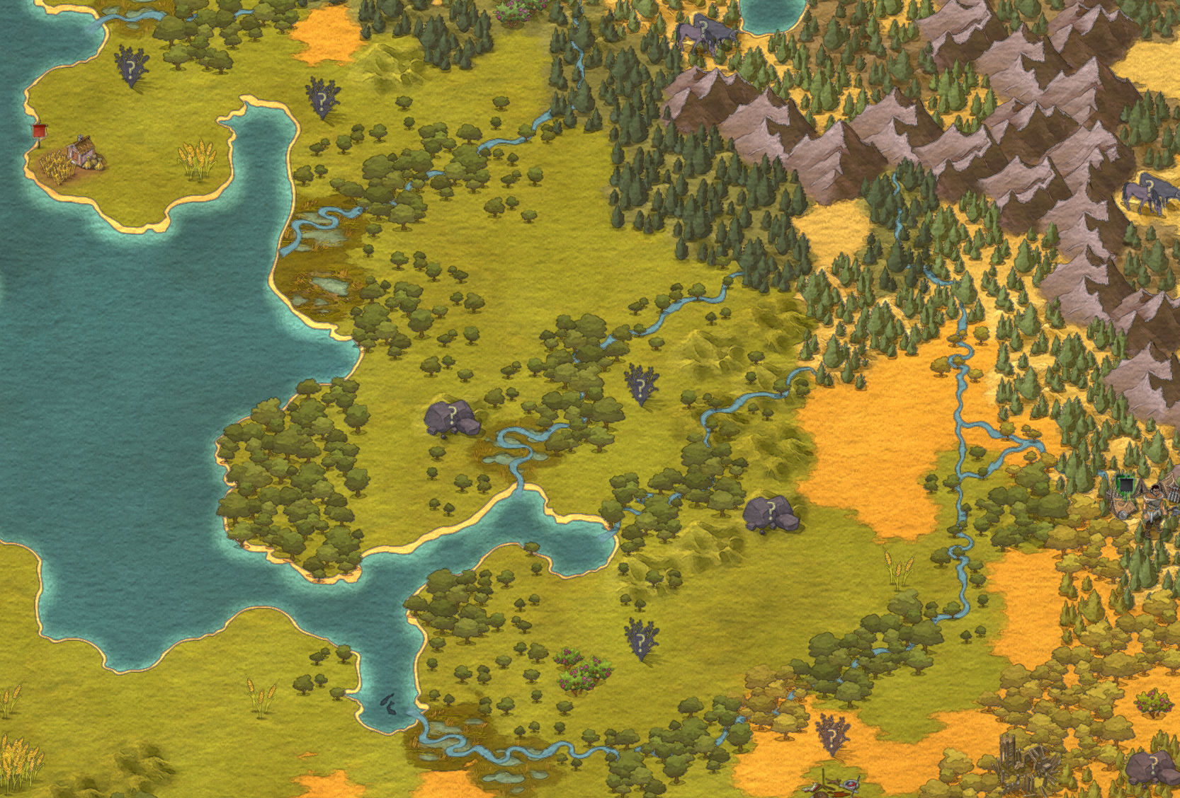 My primary goal with the maps was to create realistic-feeling worlds.